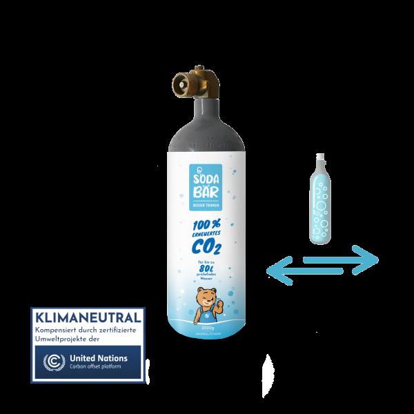Co2-Kohlensäure-Wiederbefüllung 630g für Minipom / Pomino